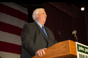 Jim Justice says Saturday phone call from the president-elect an exciting day for the state.
