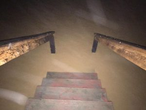 These stairs led into Aunt Shirley's flooded basement.