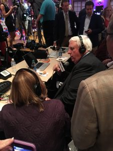 Governor-elect Jim Justice does a broadcast interview on Election Night.