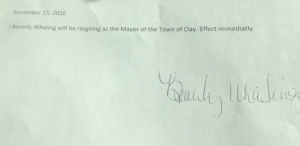 This is the statement Mayor Whaling issued.
