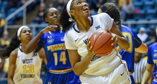 Lanay Montgomery had 23 points, 18 rebounds and five blocks against Morehead State Wednesday night.