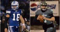Fairmont Senior's Jake Abbott (left) and Mingo Central's Jeremy Dillon (right) were both named captains on the Class AA all-state first team.