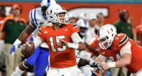 Miami junior quarterback Brad Kaaya broke Ken Dorsey's school record for career passing yards in the regular-season finale against Duke.