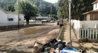 A street in Richwood in the first weeks after the June 23 flood.