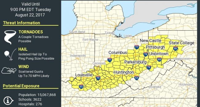 Most of Tri-State under Severe Thunderstorm Watch until 9 pm