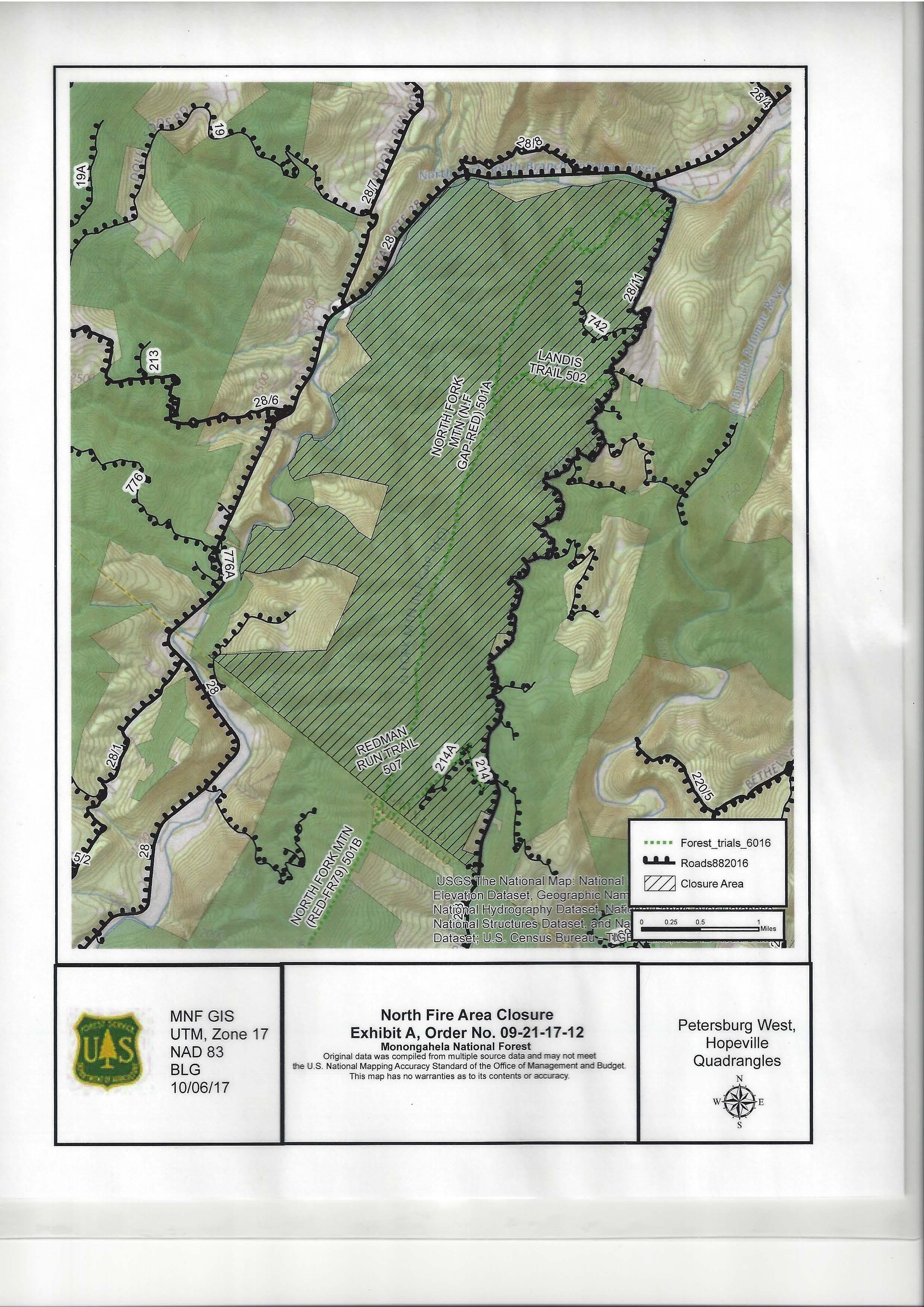 WV MetroNews Fire In Grant County Now At Acres - Us forest fire map