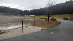 Wetzel County flood beginning