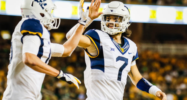 big sale acc47 99526 WVMetroNews - West Virginia quarterback Will Grier and ...
