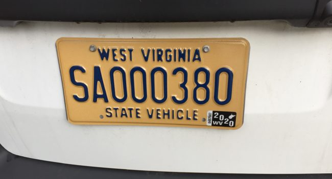 Out with the old, in with the new; state fleet now has new license plates