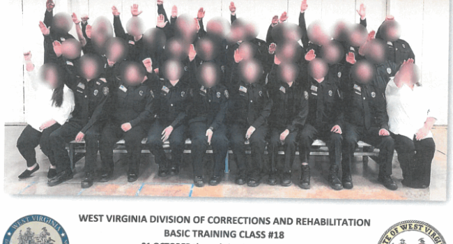 Employees sacked and suspended over 'disturbing' Nazi salute picture