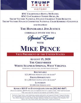 Pence fundraiser