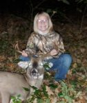 Adalyn Dobbins of Glenville with her first buck, killed during the 2020 archery season in Gilmer county