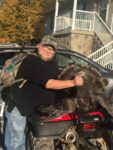 Frank Carpenter of Wallace, W.Va. is mighty proud at age 47 to kill his first ever wild turkey.