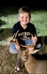 Kolt Crosston, age 9, of  Elkins with his first buck taken with a crossbow in the 2020 archery season.