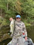 Michael Gordon of Hurricane, W.Va. with a 4.5 pound largemouth bass caught at O'Brien Lake in Jackson County last September on a spinner bait.