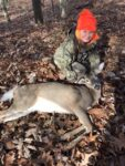 Eli Wilson of Oak Hill, W.Va. with his first deer killed in the hills of Fayette County, W.Va. in 2020