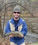 Jacob Fisher of Kenna, W.Va. with a nice rainbow trout.