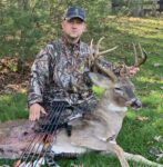 Jason Ballengee from Beaver, W.Va. with a nice 9 point buck taken with a compound bow in Summers County, W.Va.  on November 8, 2020