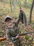 Korbin Henry from Daniels, W.Va. killed  his first squirrel on his first ever hunt October 2020 at his aunt and uncle's farm in Wirt County, W.Va.