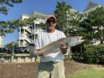 Ralph Mcwhorter of Horner, W.Va. with a 10.3 pound 28.5 inch speckled sea trout caught in Pamlico Sound in Hatteras Village. June 2020