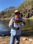 Timothy Wayne Smailes of Berkeley Springs, W.Va. with a smallmouth caught from the Cacapon River.