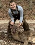 Wyatt Ridgway, age 11, of Williamstown,  W.Va. with his second buck, an 8 pointer killed on his family's farm in Ritchie County, W.Va.