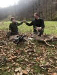Andrew Linville of Boone County killed this buck Friday Nov. 13th in an urban archery hunt in Kanawha County and a day later his 11 year old son Carter killed a doe with his crossbow in Boone County.