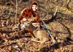 Benjamin Helms of Hinton, W.Va killed this buck during the second week of the 2020 rifle season.  His first buck in the second week and his first buck on a state Wildlife Management Area.