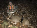 Brayson Hayes of Pennsboro, W.Va. with a 9 point buck killed in Tyler County during the 2020 rifle season.  He passed on several other bucks before taking this one.