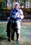 David Chidester of Morgantown, W.Va. with is first King Salmon.  The 20 pounder was caught while fishing on Johnson Creek near Waterport, NY. David said it was the only fish he landed on the trip, five others broke off.