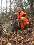 Duane Sikarskie of Ellamore, W.Va. with a nice 10 point buck killed on the opening day of the 2020 rifle season hunting in the Monongahela National Forest in West Virginia.
