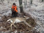 Ethan Akers of Charleston killed his first buck, this nice 6 pointer, during a hunt with his family in Tucker County, W.Va.