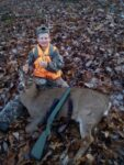 Jackson Chapman, age 12, of Fraziers Bottom, W.Va. with a deer he killed on the first day of the 2020 rifle season in West Virginia