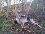Matthew Chapman of Fraziers Bottom, W.Va. with a buck taken during the 2020 bow season. The buck had a 19 3/4 inch inside spread.