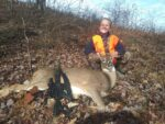 Layla Bolinger age 9, of Bruceton Mills, W.Va. killed her first Buck. near Bruceton Mills during the 2020 rifle season.