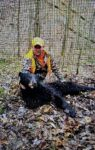 Teddy Moffatt with his first black bear killed on the first day of the 2020 hunting season in Jackson County, W.Va.