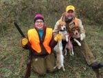 Brock Markwell and his daughter Ella from Petersburg, W.Va.  It was the pup's first rabbit run under a gun and Ella's first rabbit.  What a great day!