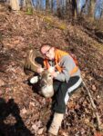 Eric Gillespie of Cowen, W.Va. shares a picture of his daughter with a buck she hunted from the time she was 17 years old, passing  on several other bucks,  she finally got him in 2020.