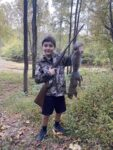 Gary Ross of Clarksburg shared this very cool picture of his grandson Cole Ross with his first squirrel, killed with the same .410 shotgun his grandfather started hunting with