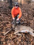 Hunter Faulkner of Bridgeport, W.Va. killed his first buck during the traditional muzzleloader season at the family property in Braxton County, W.Va.