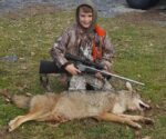 Jake Morriston, 7 years old, of Keslers Cross Lanes, WV, trapped his first coyote on December 30, 2020. He was very excited that his patience finally paid off!