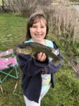 Khloe Blankenship, age 6, from Camden on Gauley, W.Va. caught this 13 inch bass while fishing last summer.  Her dad says she thought it was the biggest fish she'd ever seen!