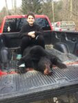 Levi Barton of Northfork,  W.Va. killed his first bear while hunting with hounds in Wyoming County, W.Va.