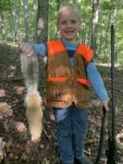 Robert Workman of Copen, W.Va. shares this picture of his six year old's first squirrel.