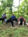 Robbie Mosteller of Griffithsville, W.Va. shows off the results of a 2020 bear hunt in Logan County, W.Va.