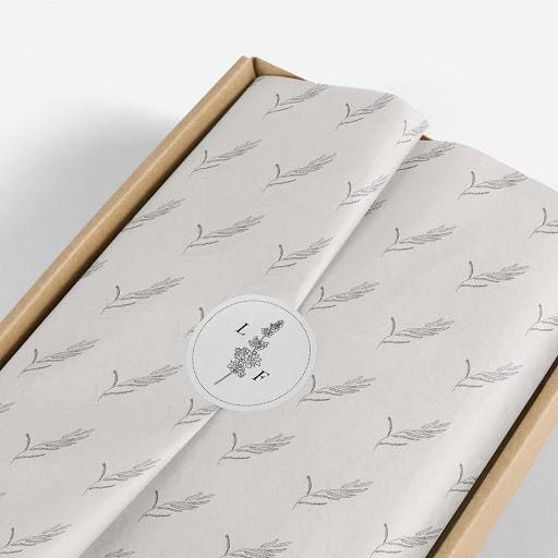 Custom sticker sealing gift wrap