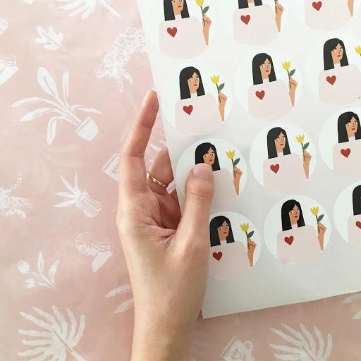 Custom stickers by Yali Ziv