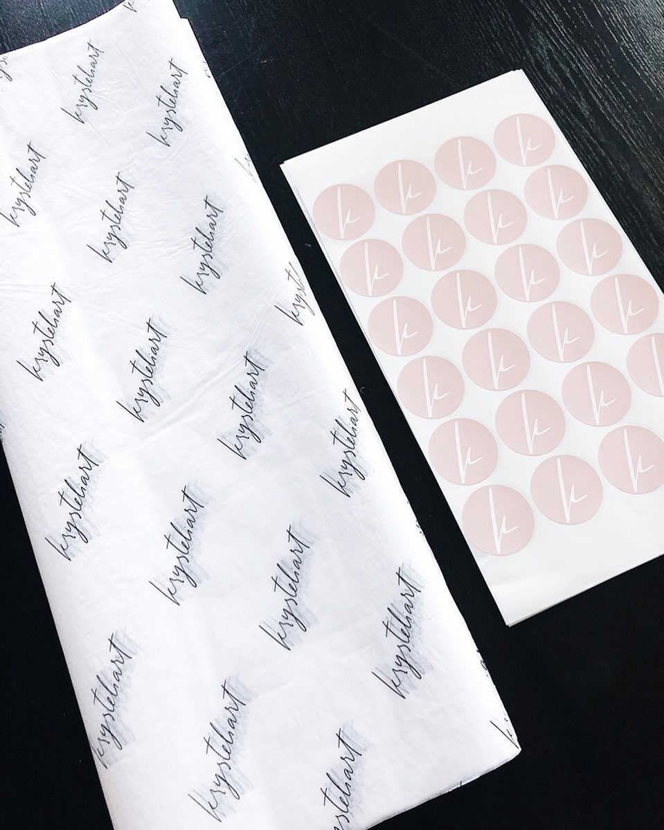 Tissue paper and sticker sheets