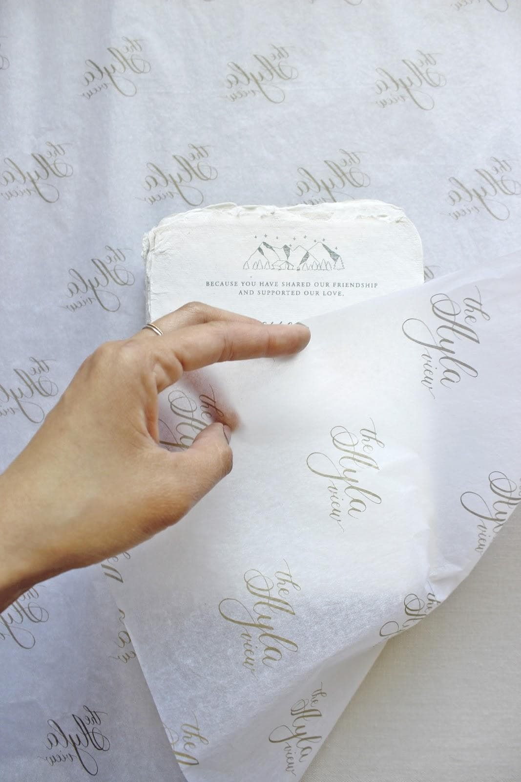 translucent 17GSM paper weight custom tissue by The AYLA View