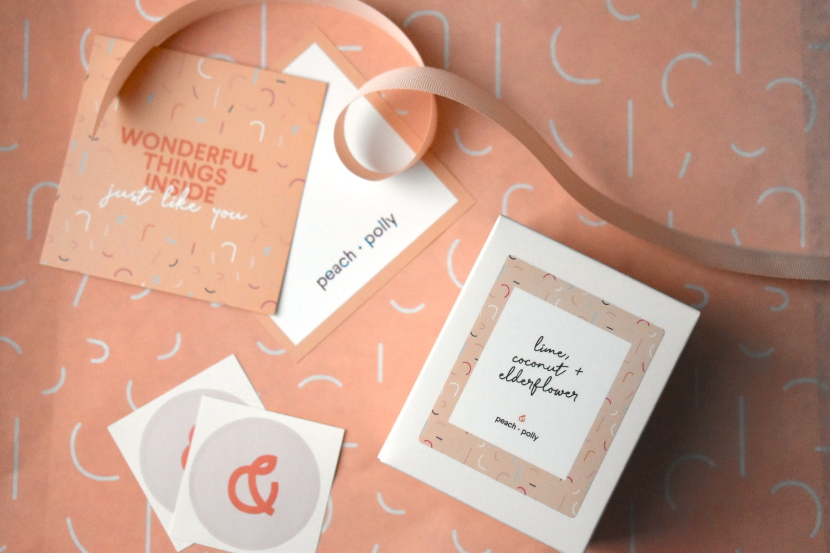 Peach + Polly Custom Stickers